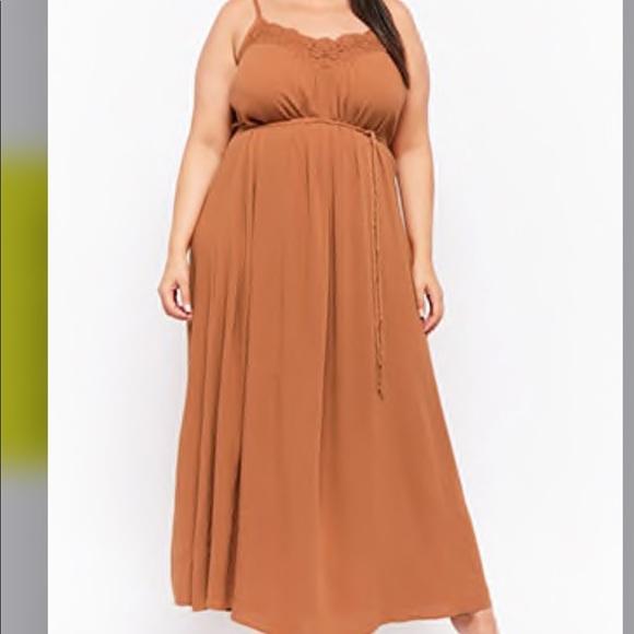 Forever 21 Dresses & Skirts - Forget 21 Plus size Crochet-Trim Maxi Dress
